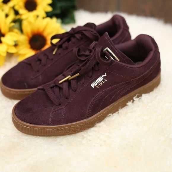Puma Shoes | Puma Suede Burgundy Rubber